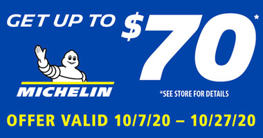 Up to $70 Rebate with 4 MICHELIN tires