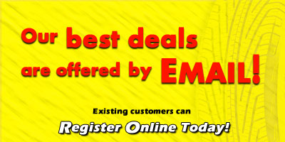 Get Our Best Deals by Email